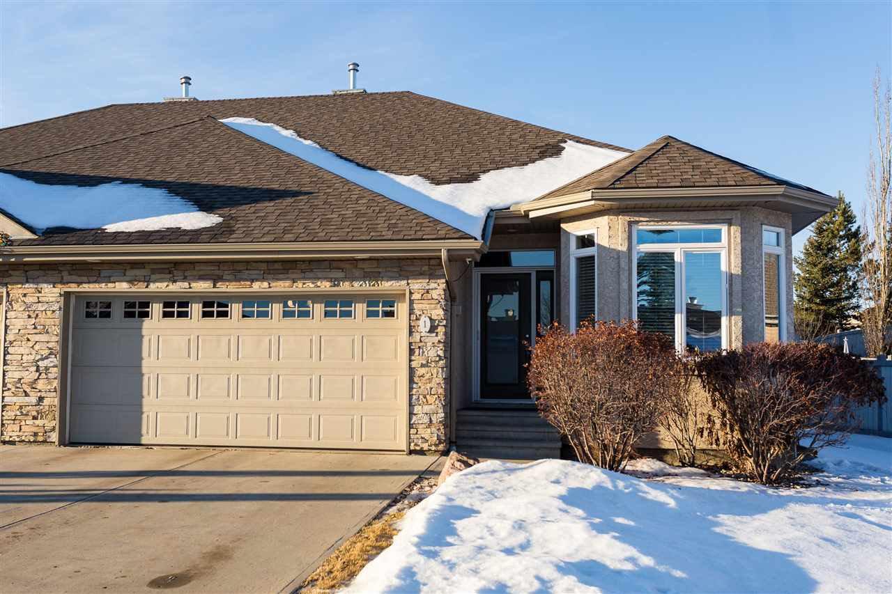 Main Photo: 1 61 Lafleur Drive: St. Albert House Half Duplex for sale : MLS®# E4222930