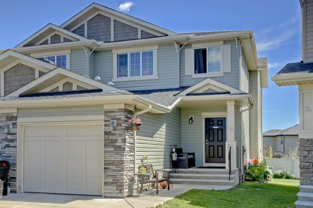 Main Photo: 78 Brightoncrest Grove SE in Calgary: New Brighton Semi Detached for sale : MLS®# A1032989