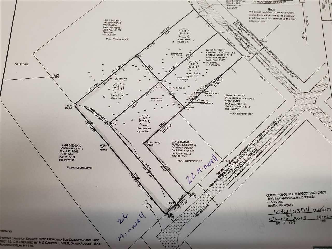 Main Photo: Minwell Avenue in Grand Lake Road: 201-Sydney Vacant Land for sale (Cape Breton)  : MLS®# 201921084