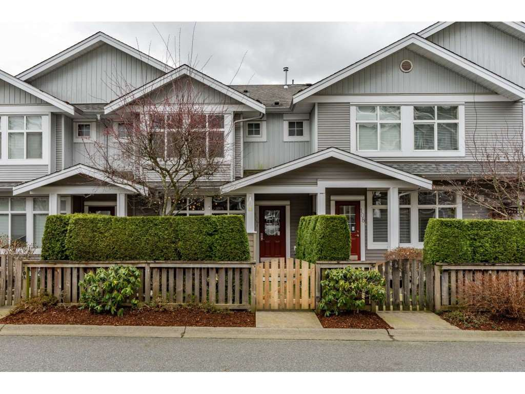 "Main Photo: 107 20449 66 Avenue in Langley: Willoughby Heights Townhouse for sale in ""Natures Landing"" : MLS®# R2440438"