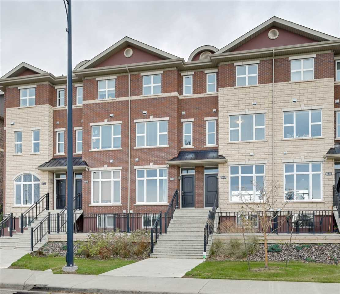 Main Photo: 1647 CUNNINGHAM Way in Edmonton: Zone 55 Townhouse for sale : MLS®# E4178265