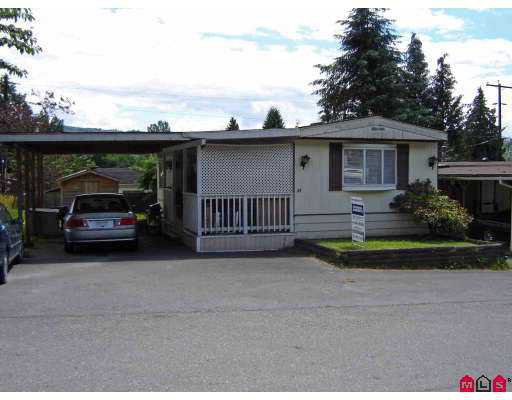 Main Photo: 55 10221 WILSON Street in Mission: Stave Falls Manufactured Home for sale : MLS®# F2717205