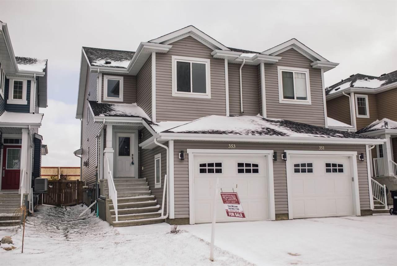 Main Photo: 353 SIMMONDS Way: Leduc House Half Duplex for sale : MLS®# E4178390