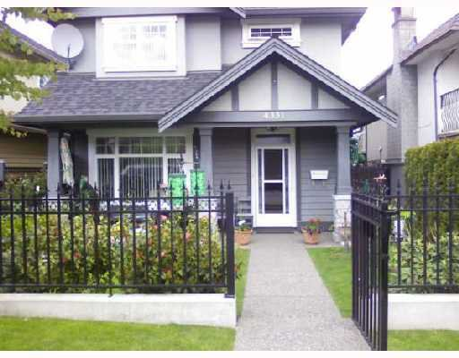 Main Photo: 4331 ALBERT Street in Burnaby: Vancouver Heights House 1/2 Duplex for sale (Burnaby North)  : MLS®# V714565