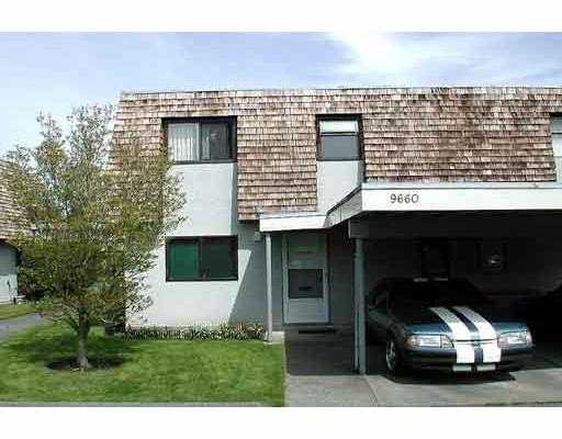 """Main Photo: 9660 RYAN Crescent in Richmond: South Arm Townhouse for sale in """"SOUTH ARM [VR154]"""" : MLS®# V653668"""