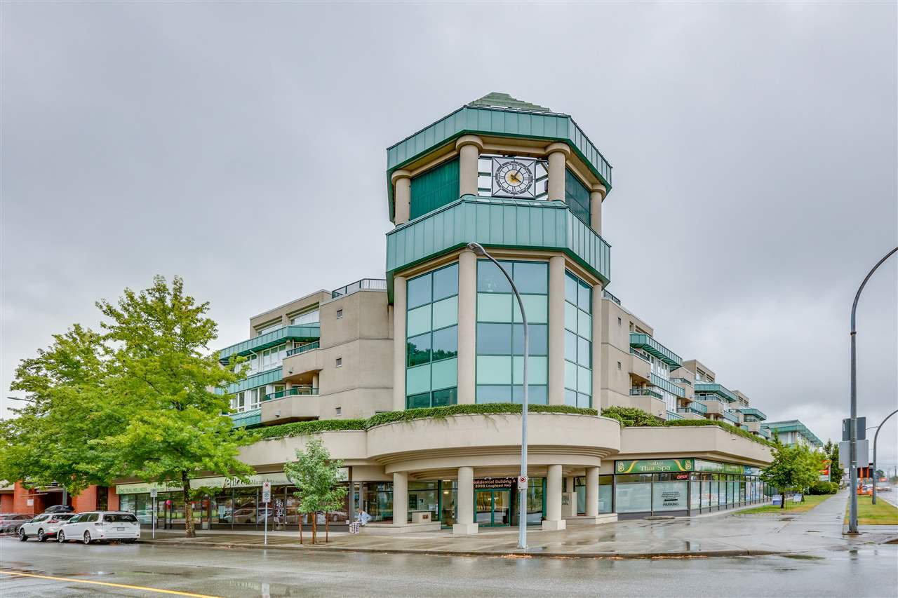 "Main Photo: A234 2099 LOUGHEED Highway in Port Coquitlam: Glenwood PQ Condo for sale in ""SHAUGHNESSY SQUARE"" : MLS®# R2484998"