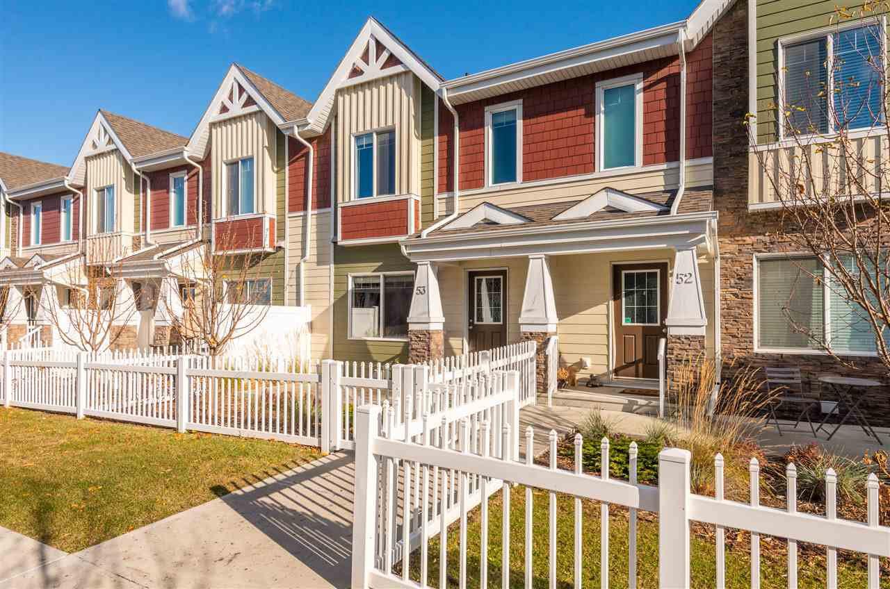 Main Photo: #53 2003 Rabbit Hill Road in Edmonton: Zone 14 Townhouse for sale : MLS®# E4184063