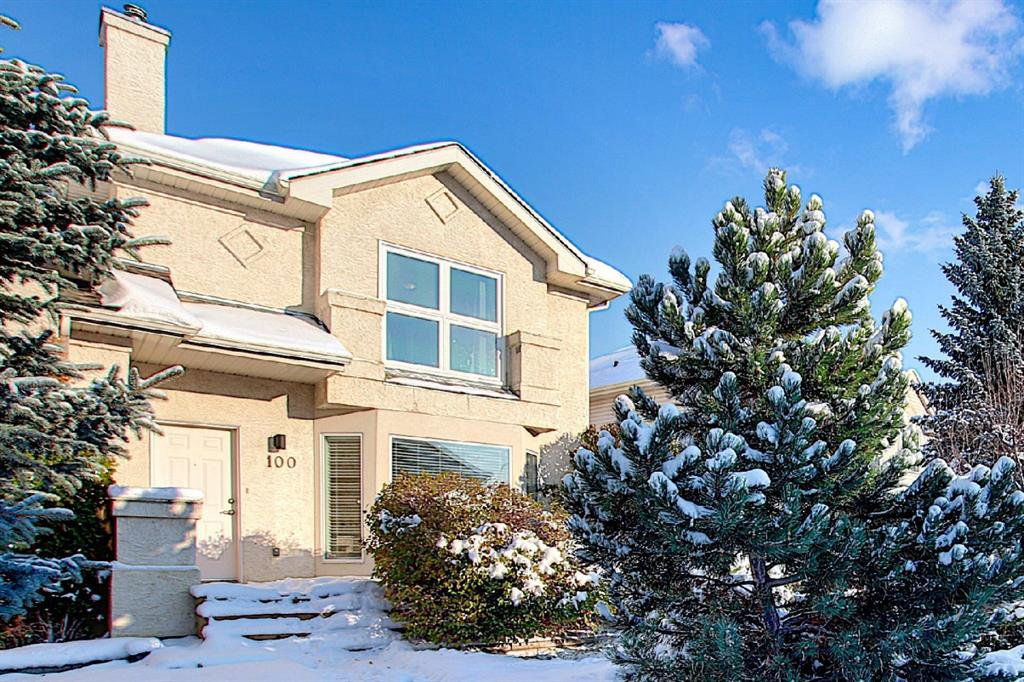 Main Photo: 100 Chaparral Ridge Circle SE in Calgary: Chaparral Semi Detached for sale : MLS®# A1044875