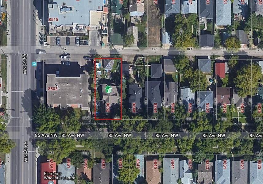 Main Photo: 9852 85 Avenue in Edmonton: Zone 15 Vacant Lot for sale : MLS®# E4182824