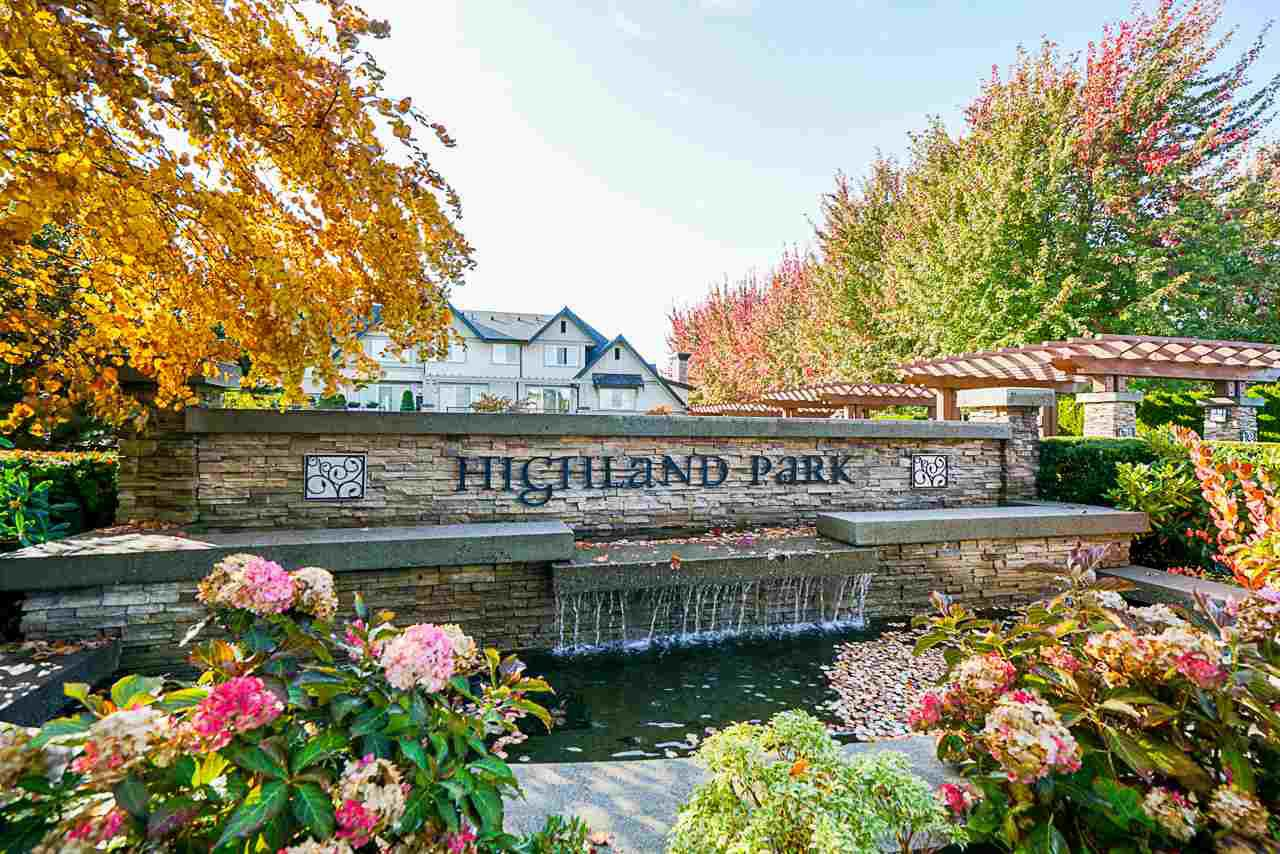 "Main Photo: 20 2501 161A Street in Surrey: Grandview Surrey Townhouse for sale in ""HIGHLAND PARK"" (South Surrey White Rock)  : MLS®# R2496271"