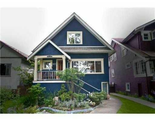 Main Photo: 823 W 20TH AV in Vancouver: House for sale : MLS®# V851816
