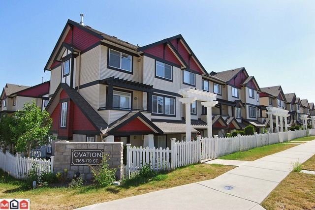 Main Photo: # 37 7168 179TH ST in Surrey: Clayton Condo for sale (Cloverdale)  : MLS®# F1018835