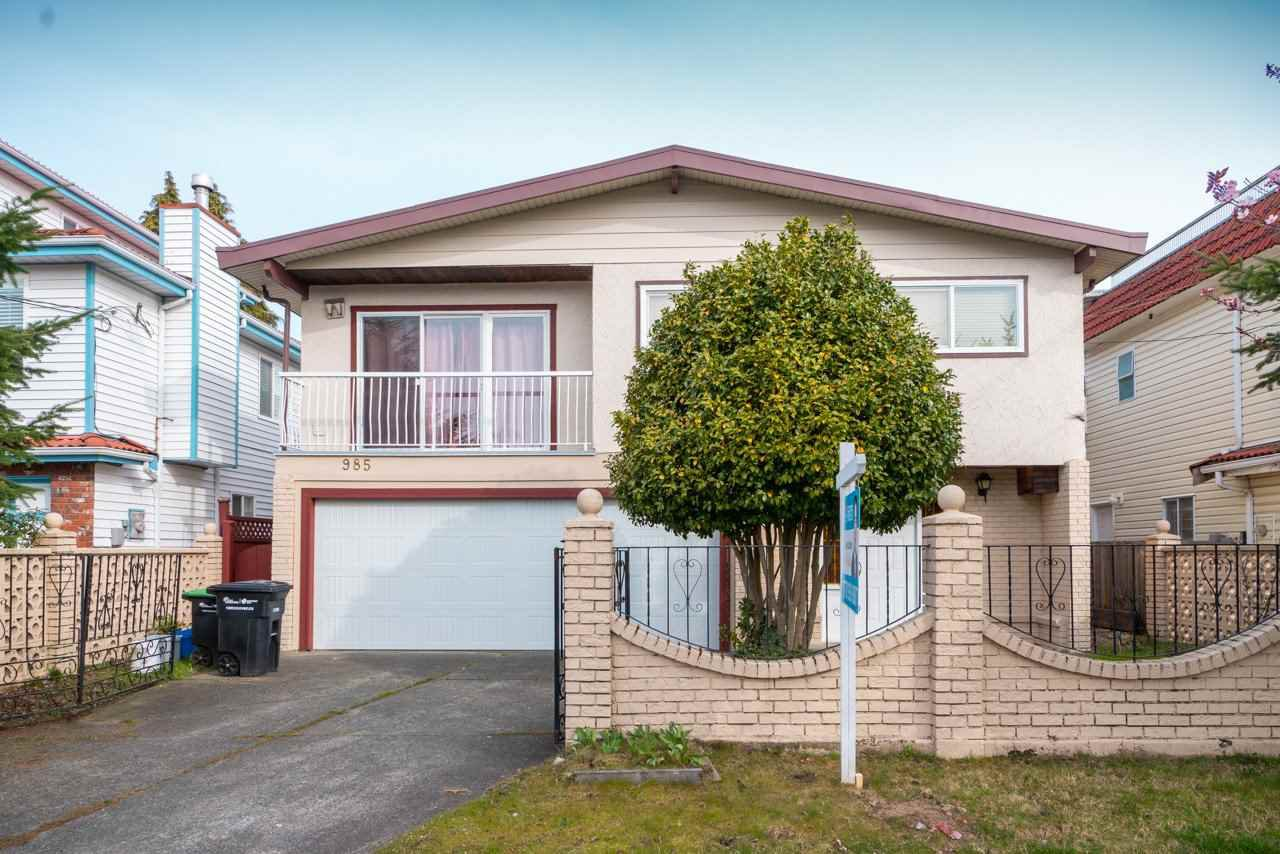 Main Photo: 985 E 55TH Avenue in Vancouver: South Vancouver House for sale (Vancouver East)  : MLS®# R2444076