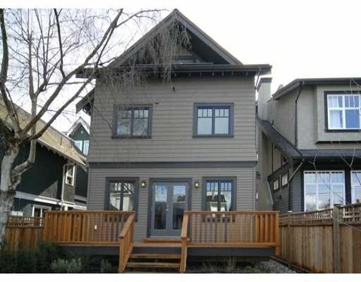 Main Photo: 3173 W 2ND Ave in Vancouver: Kitsilano 1/2 Duplex for sale (Vancouver West)  : MLS®# V634302