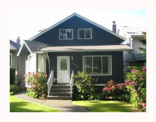Main Photo: 3737 W 16TH Avenue in Vancouver: Point Grey House for sale (Vancouver West)  : MLS®# V768659