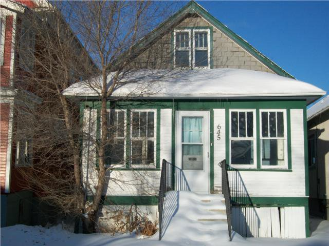 Main Photo: 645 College Avenue in WINNIPEG: North End Residential for sale (North West Winnipeg)  : MLS®# 1001374