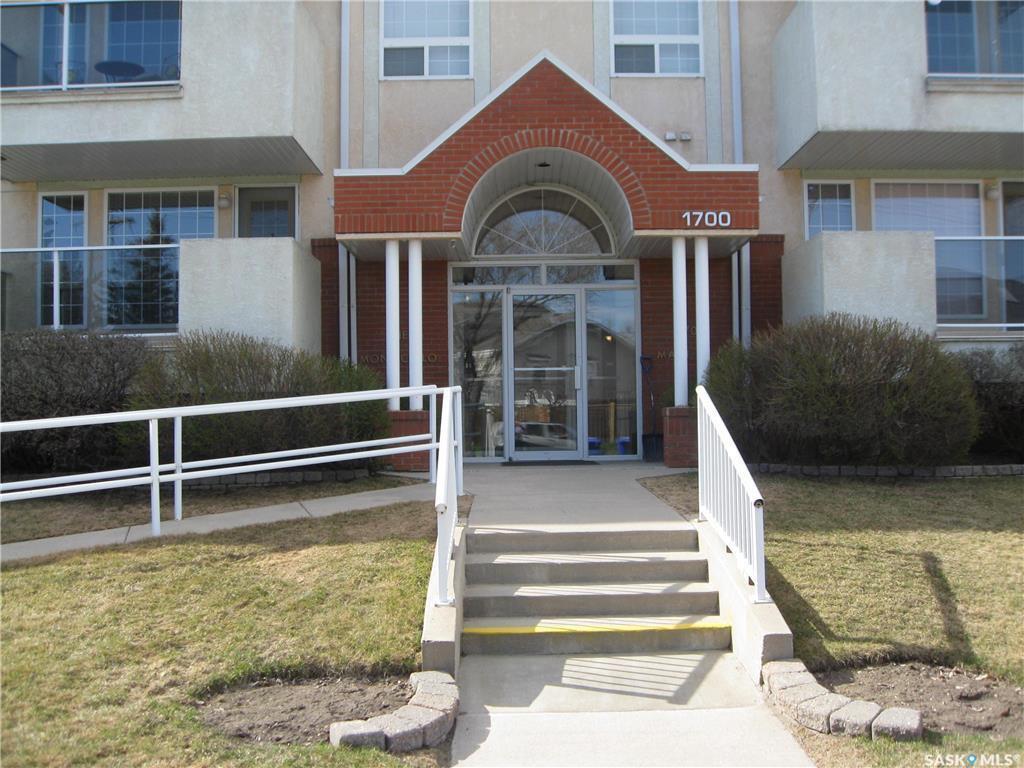 Main Photo: 108 1700 Main Street in Saskatoon: Grosvenor Park Residential for sale : MLS®# SK806805