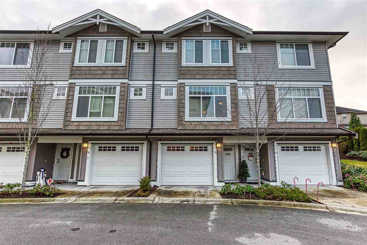 "Main Photo: 75 14356 63A Avenue in Surrey: East Newton Townhouse for sale in ""THE MADISON"" : MLS®# R2424411"