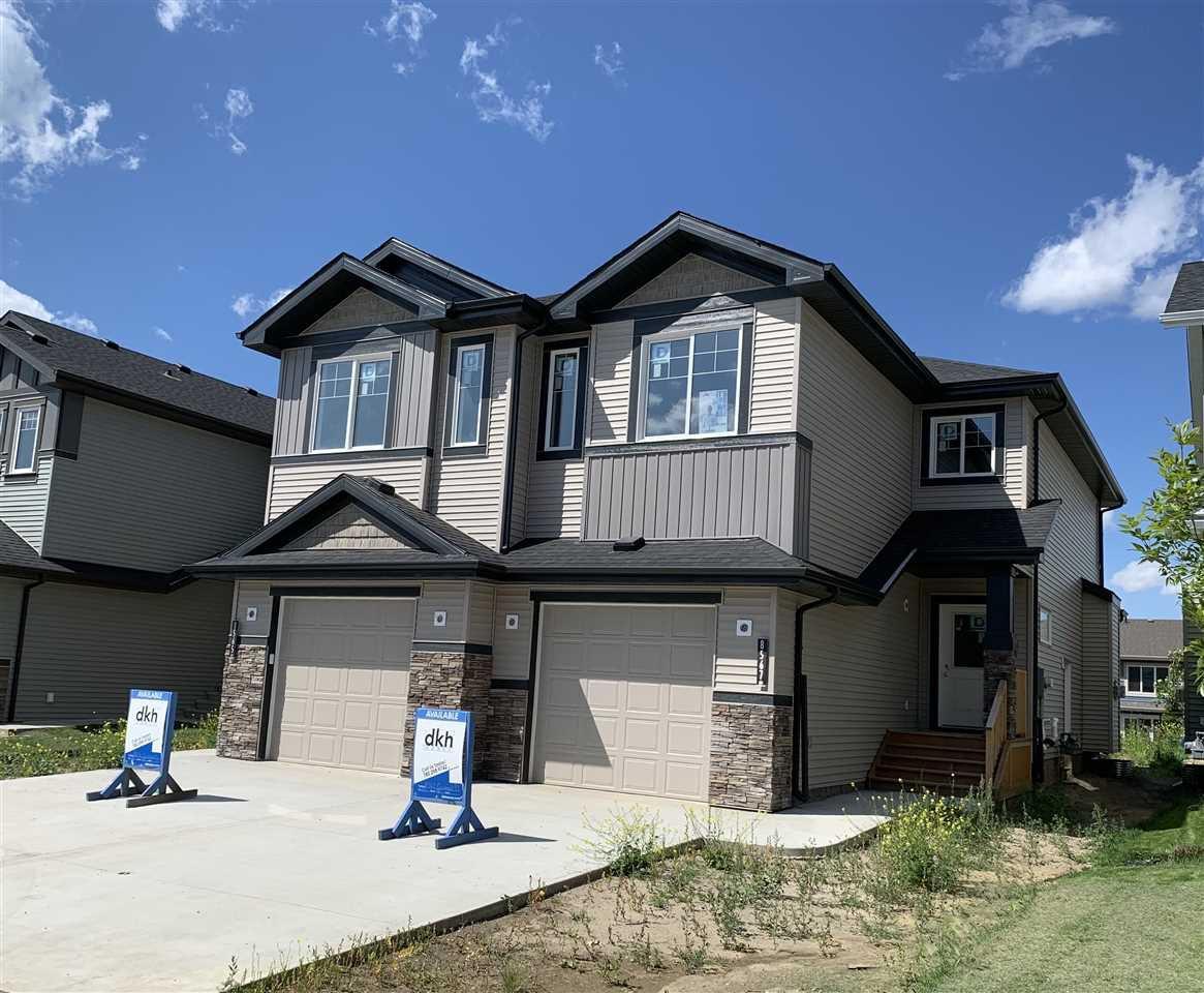 Main Photo: 8567 CUSHING Place in Edmonton: Zone 55 House Half Duplex for sale : MLS®# E4183569