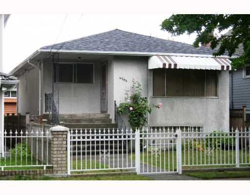 Main Photo: 4794 GOTHARD Street in Vancouver: Collingwood VE House for sale (Vancouver East)  : MLS®# V786815