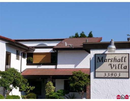 "Main Photo: 3 33903 MARSHALL Road in Abbotsford: Central Abbotsford Townhouse for sale in ""MARSHALL VILLAS"" : MLS®# F2824518"