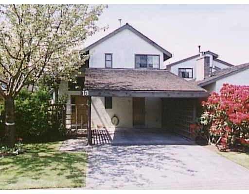 "Main Photo: 13 11291 7TH AV in Richmond: Steveston Village Townhouse for sale in ""MARINERS VILLAGE"" : MLS®# V569306"