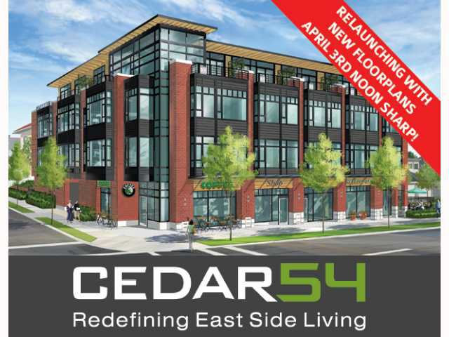 """Main Photo: 211- 2008 E 54TH Avenue in Vancouver: Fraserview VE Condo for sale in """"CEDAR54"""" (Vancouver East)  : MLS®# V819286"""