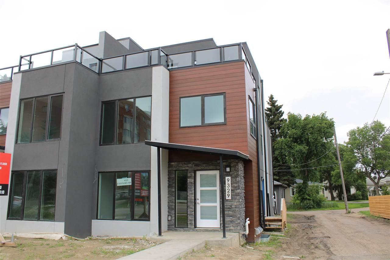 Main Photo: 9329 CONNORS Road in Edmonton: Zone 18 House Half Duplex for sale : MLS®# E4167923