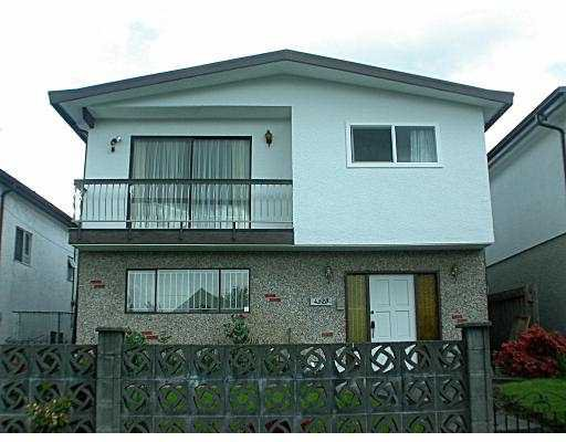 Main Photo: 4520 HARRIET ST in Vancouver: Fraser VE House for sale (Vancouver East)  : MLS®# V539173