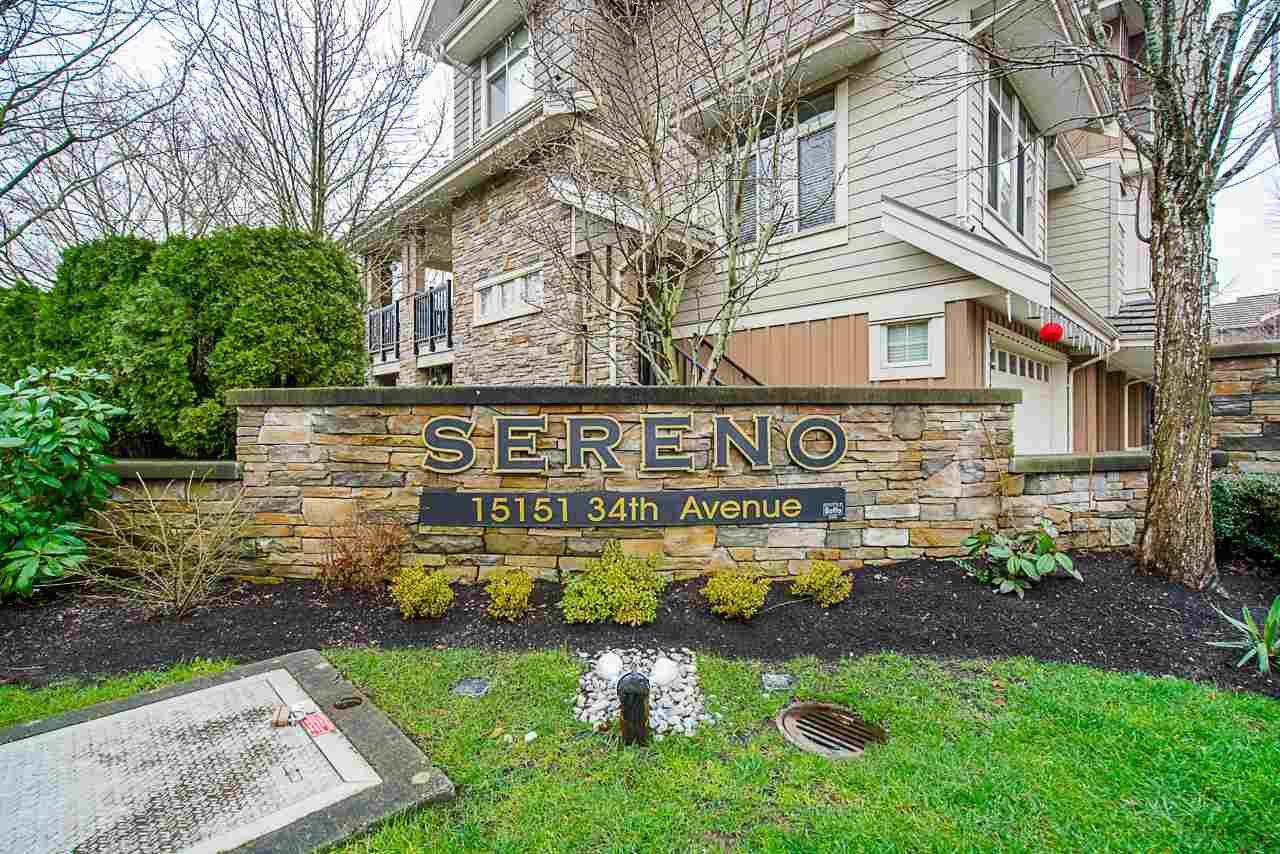 "Main Photo: 44 15151 34 Avenue in Surrey: Morgan Creek Townhouse for sale in ""SERENO"" (South Surrey White Rock)  : MLS®# R2525553"