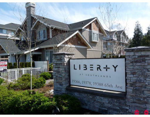 "Main Photo: 112 19388 65TH Avenue in Surrey: Clayton Condo for sale in ""LIBERTY"" (Cloverdale)  : MLS®# F2926283"