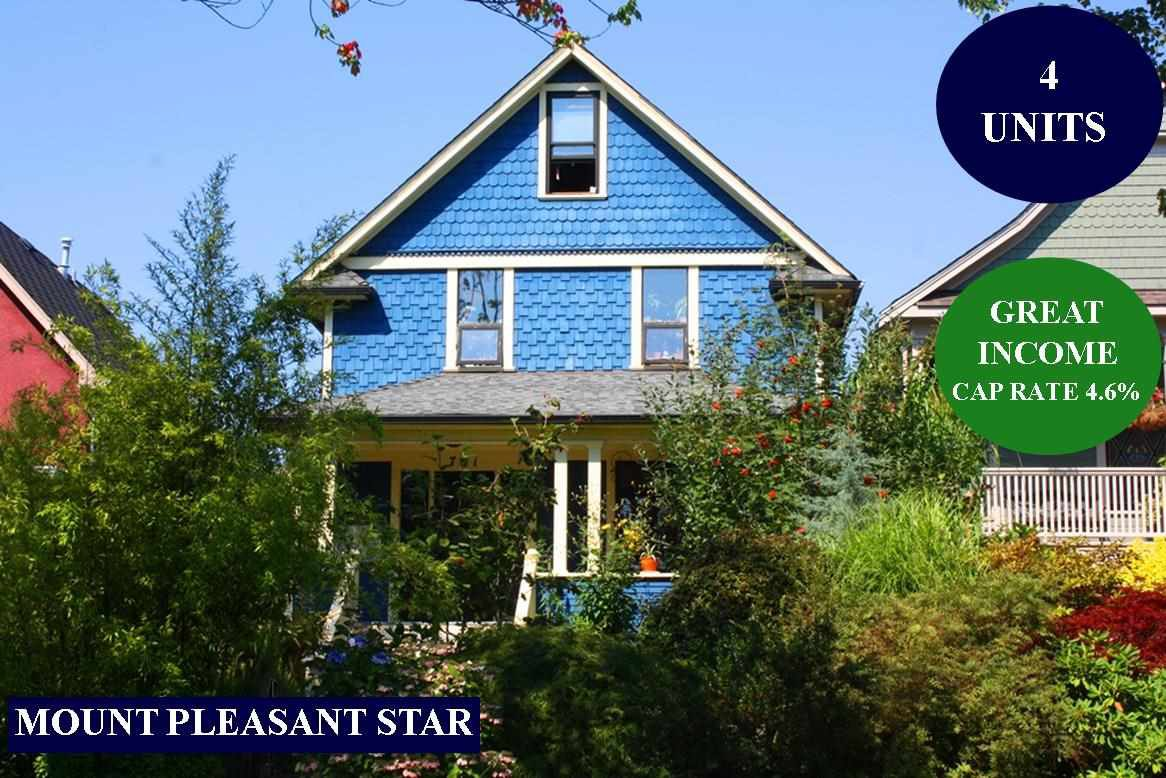Main Photo: 761 E 15TH Avenue in Vancouver: Mount Pleasant VE House for sale (Vancouver East)  : MLS®# R2497246