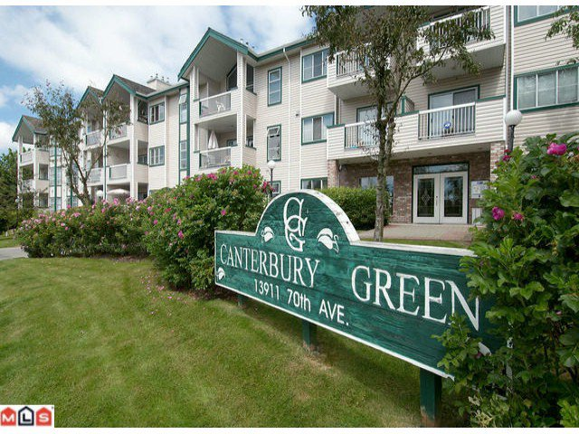 "Main Photo: 218 13911 70TH Avenue in Surrey: East Newton Condo for sale in ""CANTERBURY GREEN"" : MLS®# F1018372"