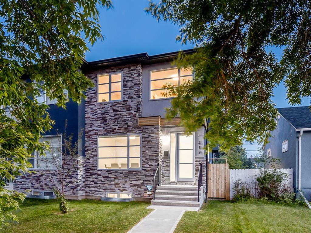 Main Photo: 419 18 Avenue NW in Calgary: Mount Pleasant Semi Detached for sale : MLS®# A1022384