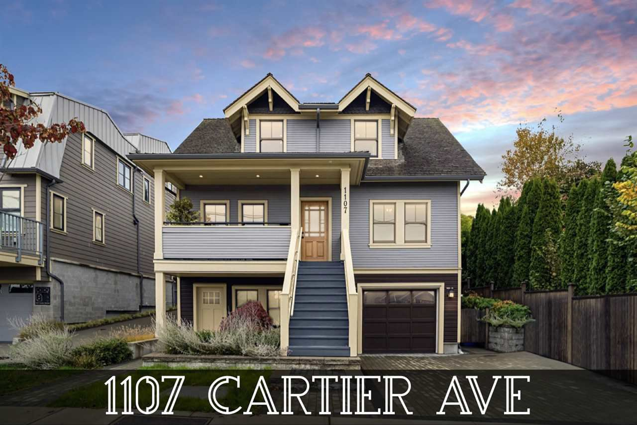 "Main Photo: 1107 CARTIER Avenue in Coquitlam: Maillardville House for sale in """"Maison LeBlanc at Cartier"""" : MLS®# R2513873"