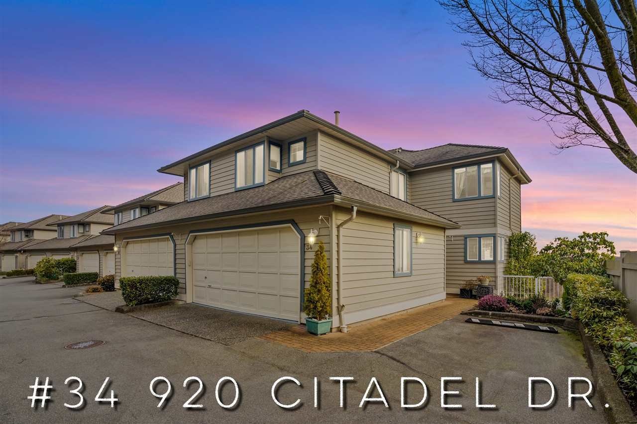 "Main Photo: 34 920 CITADEL Drive in Port Coquitlam: Citadel PQ Townhouse for sale in ""Citadel Green"" : MLS®# R2451647"