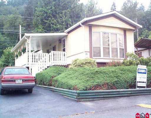 """Photo 1: Photos: 21 10221 WILSON ST in Mission: Stave Falls Manufactured Home for sale in """"TRIPLE CREEK"""" : MLS®# F2513809"""