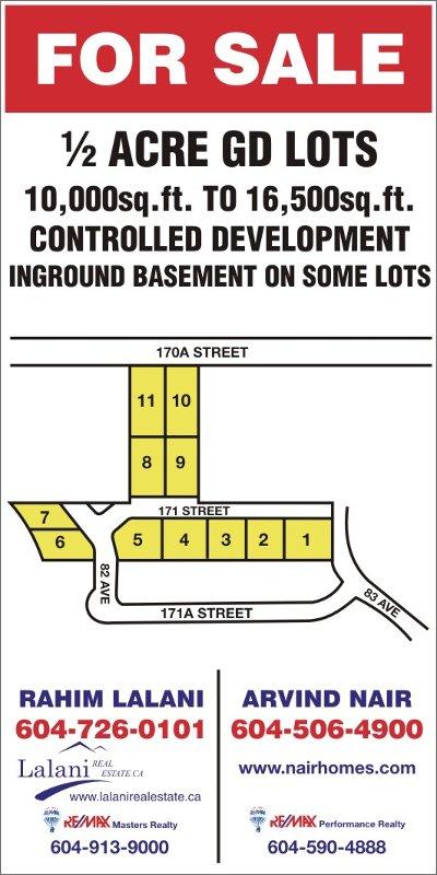 Main Photo: 8244 171 Street in Surrey: Fleetwood Tynehead Land for sale : MLS®# F2905522
