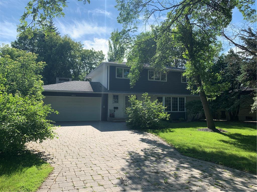 Main Photo: 403 Kelvin Boulevard in Winnipeg: Tuxedo Residential for sale (1E)  : MLS®# 202017499