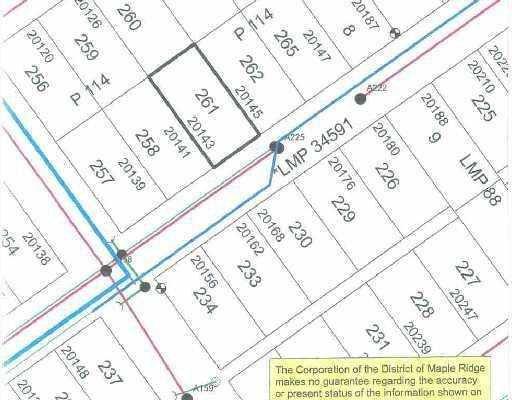 Main Photo: 20143 DITTON Street in Maple_Ridge: Southwest Maple Ridge Land for sale (Maple Ridge)  : MLS®# V765347
