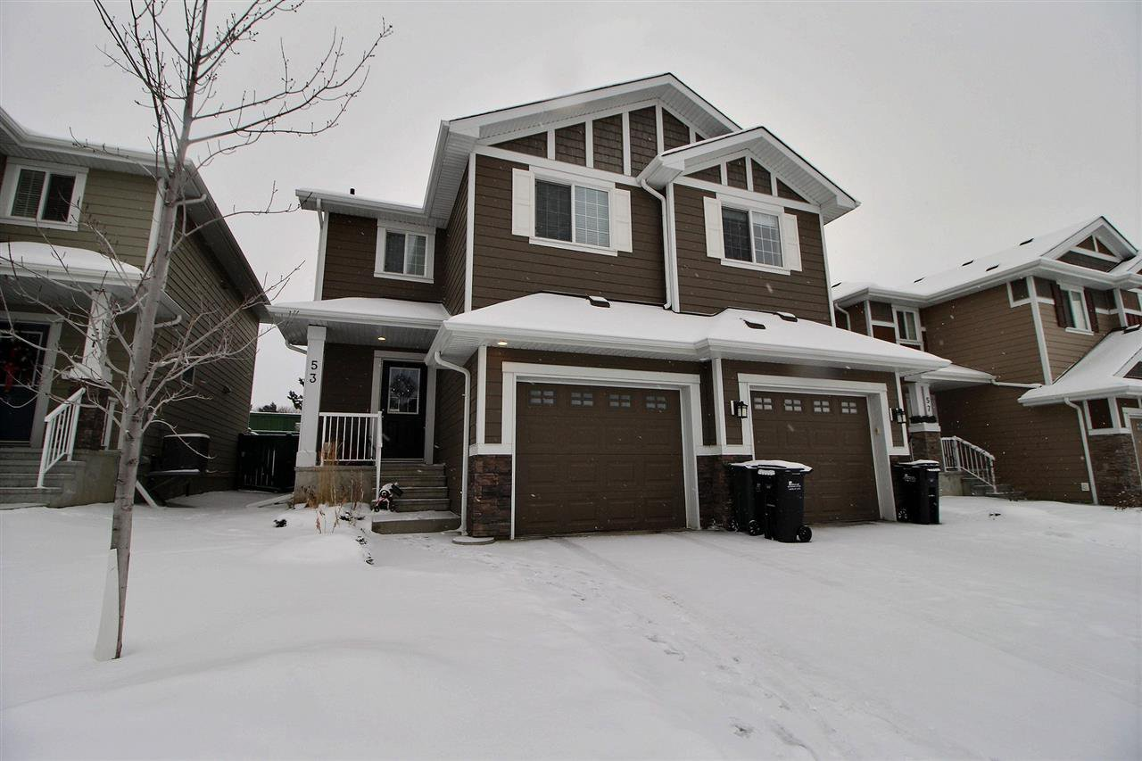Main Photo: 53 219 CHARLOTTE Way: Sherwood Park House Half Duplex for sale : MLS®# E4182411