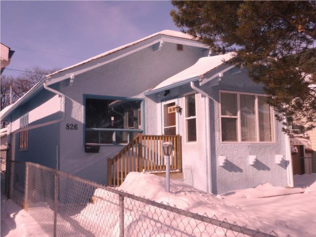 Main Photo: 826 Banning Street in WINNIPEG: West End / Wolseley Residential for sale (West Winnipeg)  : MLS®# 1002949