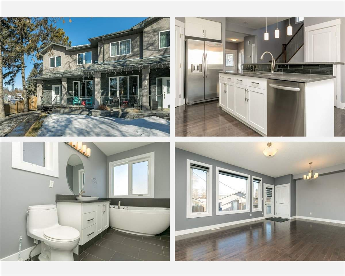 Main Photo: 8744 92A Avenue in Edmonton: Zone 18 House Half Duplex for sale : MLS®# E4189715