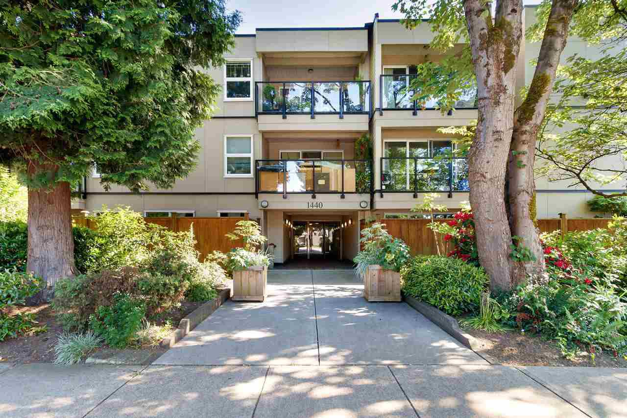 """Main Photo: 105 1440 E BROADWAY in Vancouver: Grandview Woodland Condo for sale in """"Alexandra Place"""" (Vancouver East)  : MLS®# R2461362"""