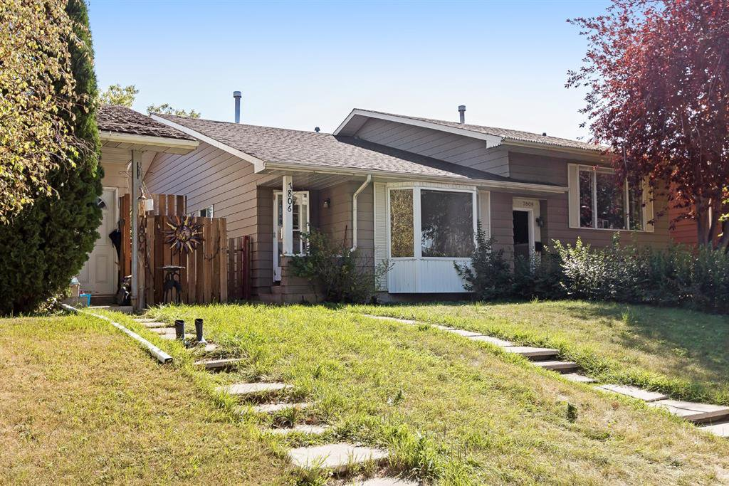 Main Photo: 7806 20A Street SE in Calgary: Ogden Semi Detached for sale : MLS®# A1026606
