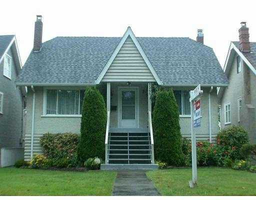 Main Photo: 3265 W 12TH AV in Vancouver: Kitsilano House for sale (Vancouver West)  : MLS®# V554580