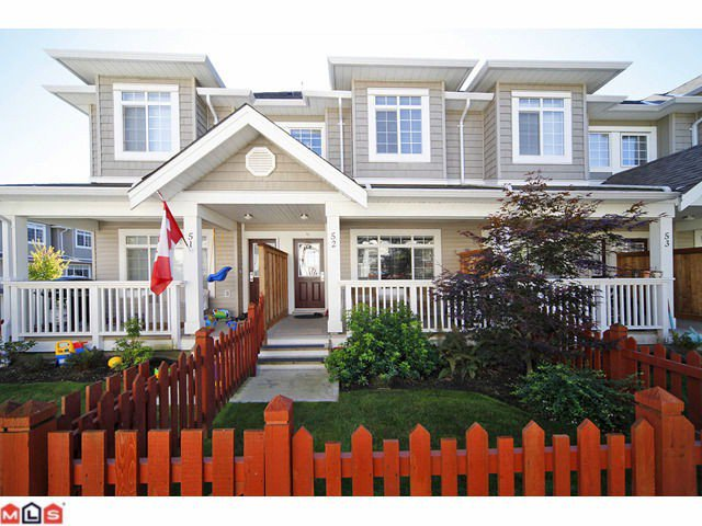 "Main Photo: 52 6852 193RD Street in Surrey: Clayton Townhouse for sale in ""INDIGO"" (Cloverdale)  : MLS®# F1025837"
