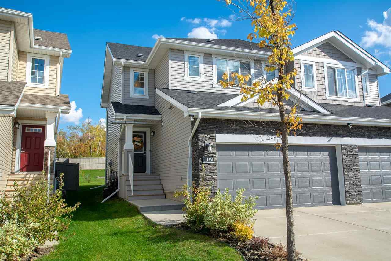 Main Photo: 1251 STARLING Drive in Edmonton: Zone 59 House Half Duplex for sale : MLS®# E4174556