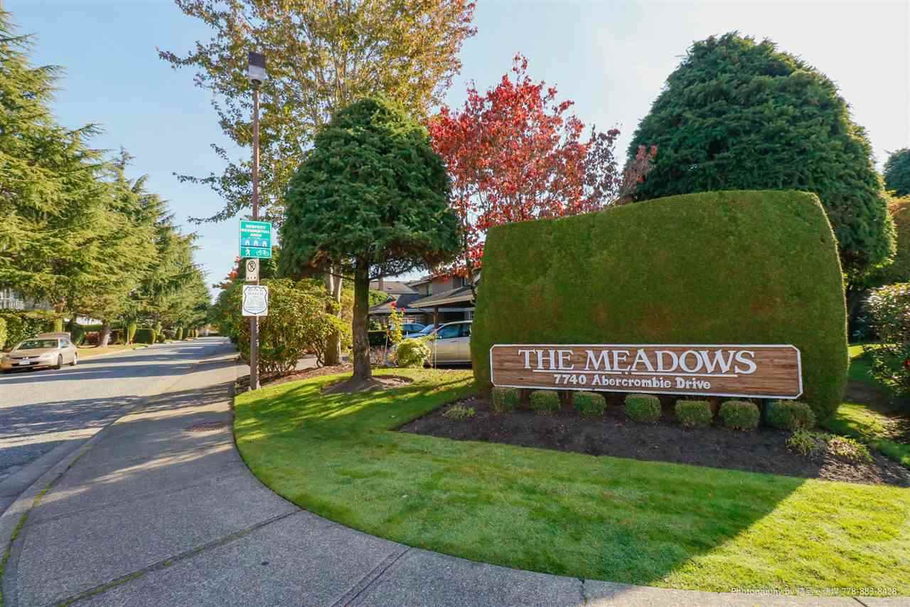 """Main Photo: 43 7740 ABERCROMBIE Drive in Richmond: Brighouse South Townhouse for sale in """"THE MEADOWS"""" : MLS®# R2436795"""