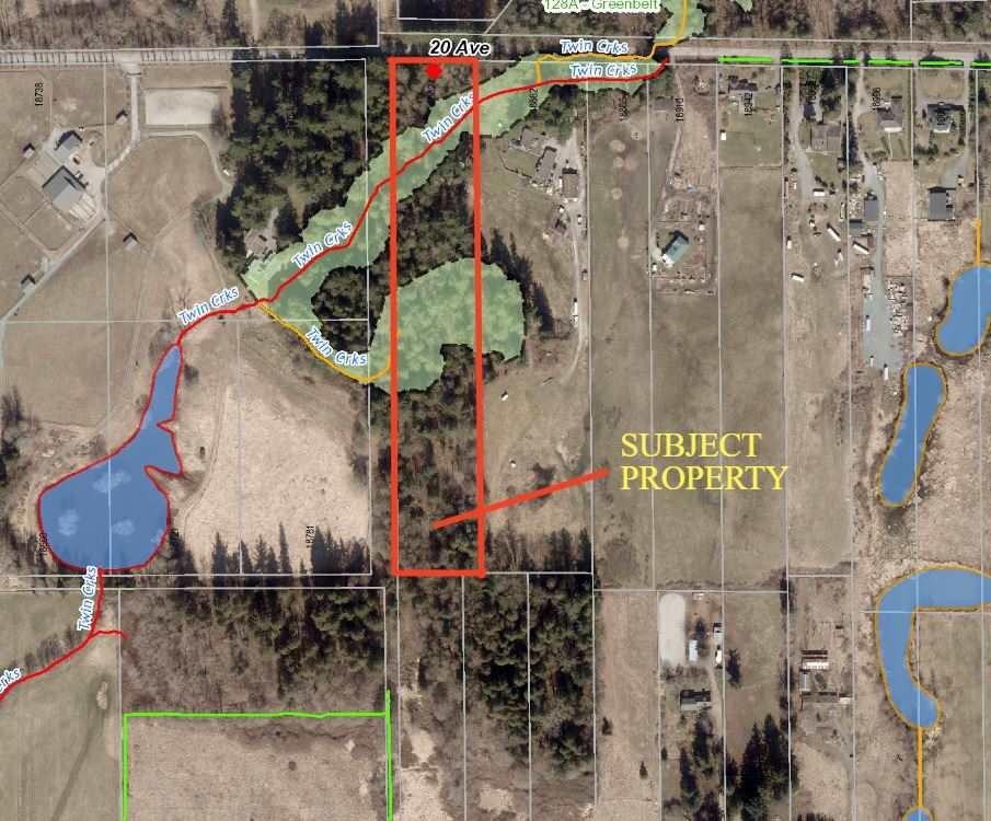 Main Photo: 18824 20 Avenue in Surrey: Hazelmere Land for sale (South Surrey White Rock)  : MLS®# R2423797